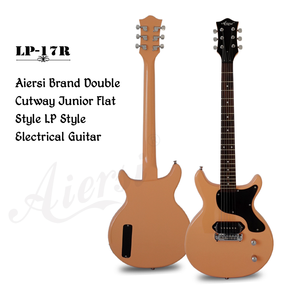 aiersi brand double cutway junior flat solid body electric guitar model lp 17 sinomusic. Black Bedroom Furniture Sets. Home Design Ideas